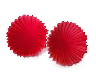Pleated Flower Posts - Red