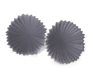 Pleated Flower Posts - Grey