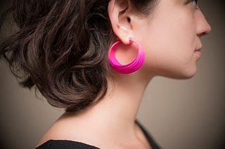 Pleated Hoops - Fuchsia
