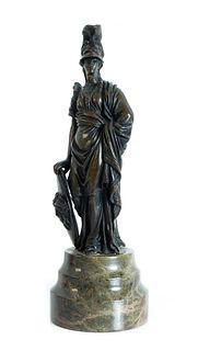 Continental Bronze Figural Sculpture of Minerva