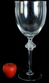 """Lalique """"Roxane"""" Chalice Shaped Vase, 15.5"""""""