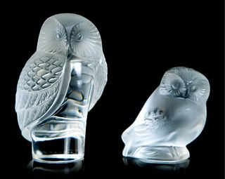 Two Lalique Owls: Shiver Owl & Nyctal Owl