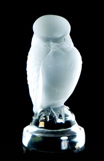"""Lalique Crystal 'Repace"""" Hawk Paperweight"""