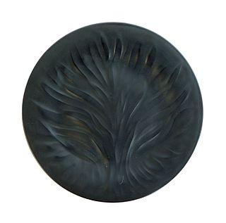 Lalique Crystal Algues Noir Plate