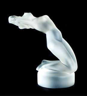 Vintage Lalique Figural Paperweight Chrysis