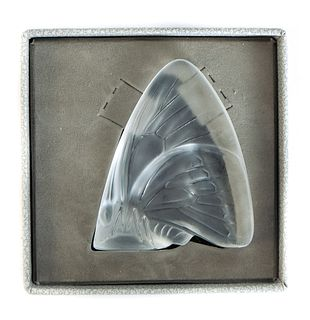 Lalique Crystal Grand Nacre Butterfly w/Box