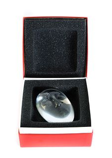 Baccarat Crystal Paperweight Tiki Mask w/Box