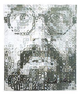 Chuck Close, Self Portrait, Lithograph, Signed