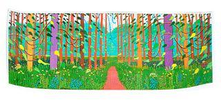 David Hockney Poster The Arrival of Spring Signed