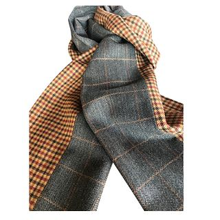 Dark grey winow pane mixed with a huntclub check scarf