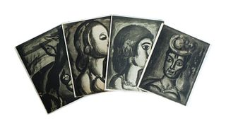 Georges Rouault 4 Aquatints from 'Miserere'