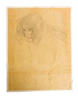 Gustav Klimt Portrait of Lady Print