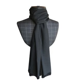 Black lightweight large scarf