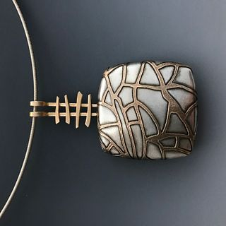 Pam Caidin, Square Lattice Pendant