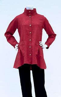 Red Linen Tunic