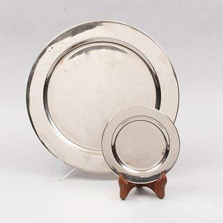 Servicio de vajilla para 22 personas. México y Francia. SXXI. Elaborados en metal plateado y porcelana, algunos Limoges. 168 piezas.