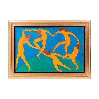 """""""La Danza"""". Reproducción de la obra de Henri Matisse  Óleo sobre lienzo. Con marco. 82 x 125 cm."""