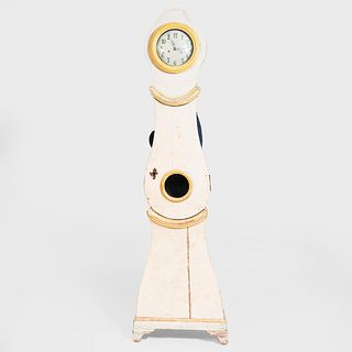 Swedish Painted Tall Case Clock