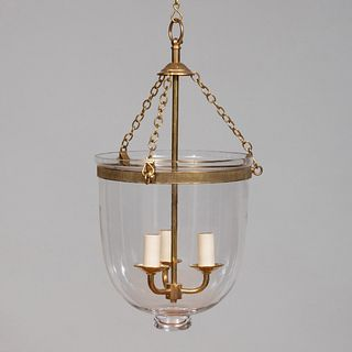 Pair of Brass-Mounted Hundi Hanging Lanterns