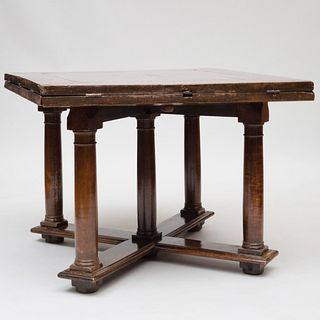 Henri II Walnut Extension Dining Table