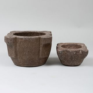 Two Italian Stone Mortars