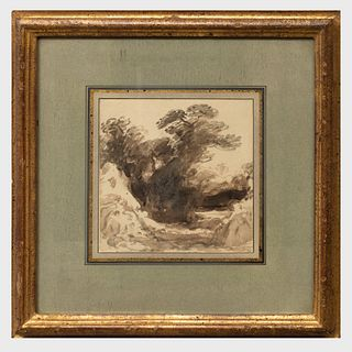 Attributed to John Varley (1778-1842): Landscape