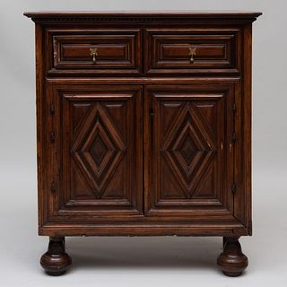Continental Baroque Walnut Side Cabinet, Possibly Northern Italy