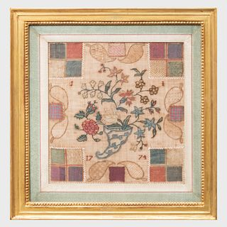 Framed Needlework Sampler