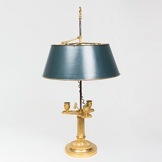 Louis XVI Style Ormolu Bouillotte Lamp with Tôle Shade