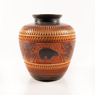 Diane Aragon Pottery Native American Vase