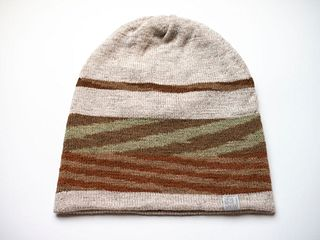 Chevron Slouch Hat #5 — Curly Hair Friendly