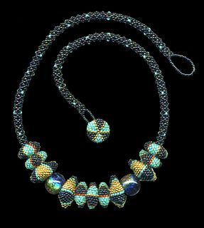 Accordian Bead necklace