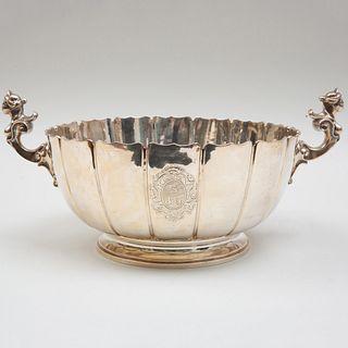 George V Silver Scalloped Circular Bowl
