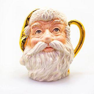 Lg Doulton Prototype Colorway Character Jug, Santa, Gold