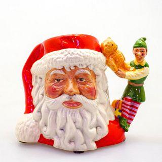 Royal Doulton Small Character Jug, Santa with Elf D7243