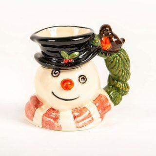 Mini Doulton Character Jug, Christmas Robin Snowman D7159