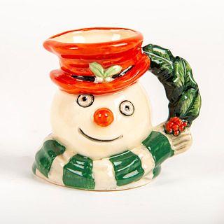 Mini Royal Doulton Character Jug, Snowman D7062