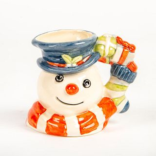 Doulton Character Jug, Christmas Stocking Snowman D7124
