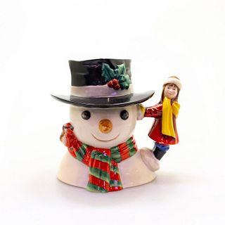 Royal Doulton Large Character Jug, Snowman D7241