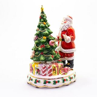 Royal Albert Music Box, Santa With Rotating Christmas Tree