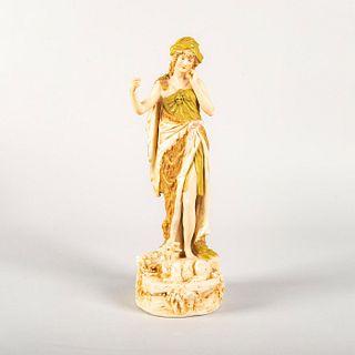 Royal Dux Bohemia Figurine, Shepherdess with Goat