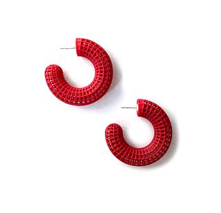 Grid Hoops - Red