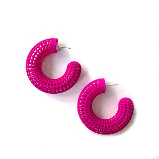 Grid Hoops - Fuchsia