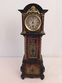 FRENCH BOULLE MINI TALL CLOCK