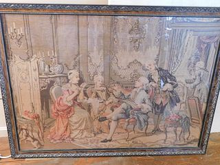 LARGE ANTIQUE CLASSICAL TAPESTRY