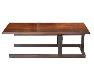 20th Century Thomas Swift Studio Cantilever Architectural Designed Low Table, circa 1980