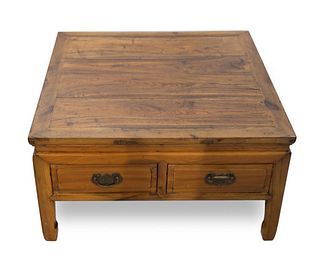 19th Century Chinese 2 Drawer Low table