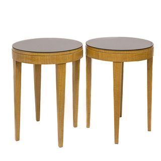 Mid Century Modern Round End Tables