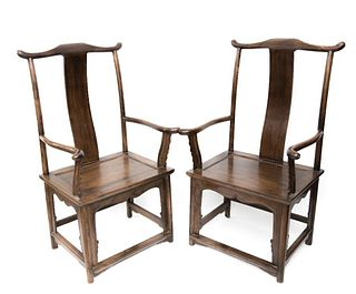 Pair of Early 20th Century Ming Style Armchairs