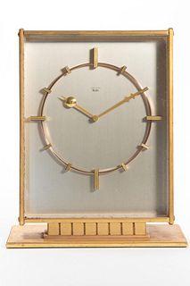 Mid Century Junghans Meister Brass Clock